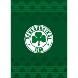 8cc8e6787c8 Κουβέρτα Βελουτέ Μονή Palamaiki Official Team Licenced Panathinaikos  VELOUR/2 Green 160x220