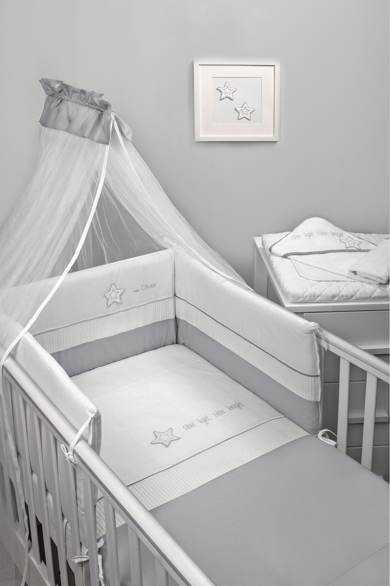 Σετ Προίκας 3 Τεμαχίων Baby Oliver Design 146 Star Light, Star Bright
