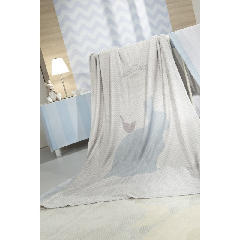 ΚΟΥΒΕΡΤΑ  SAINT CLAIR ULTRASOFT  LAPIN BLUE 110X140
