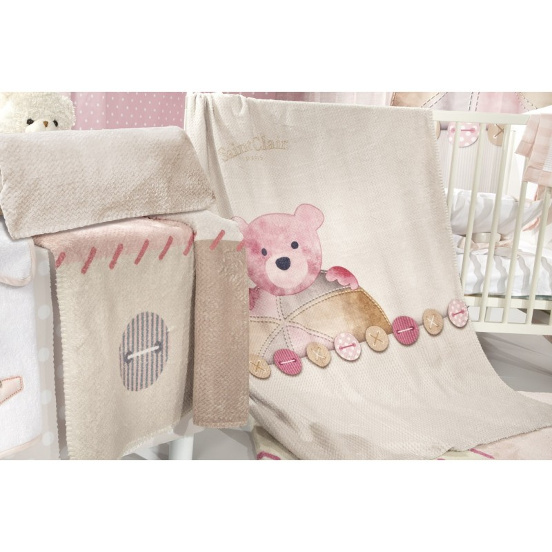 ΚΟΥΒΕΡΤΑ  SAINT CLAIR ULTRASOFT  TEDDY ROSE 110X140