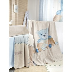 ΚΟΥΒΕΡΤΑ  SAINT CLAIR ULTRASOFT  TEDDY SKY 110X140