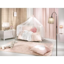 ΚΟΥΡΤΙΝΑ  SAINT CLAIR SOFT-TOUCH  POLKA DOTS PINK 140X250