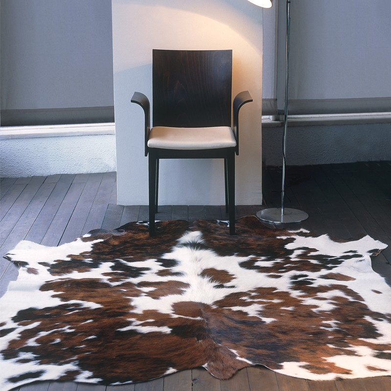 Cow Skin Natural Brown-White