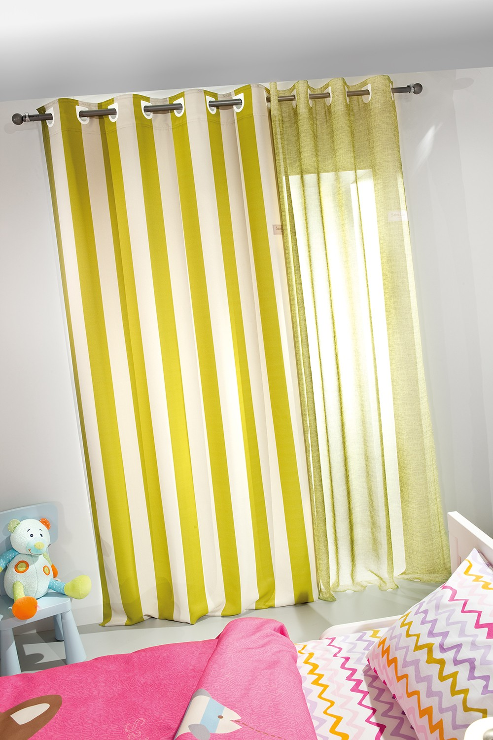 ΚΟΥΡΤΙΝΑ SAINT CLAIR SOFT-TOUCH LIME STRIPES 160X250