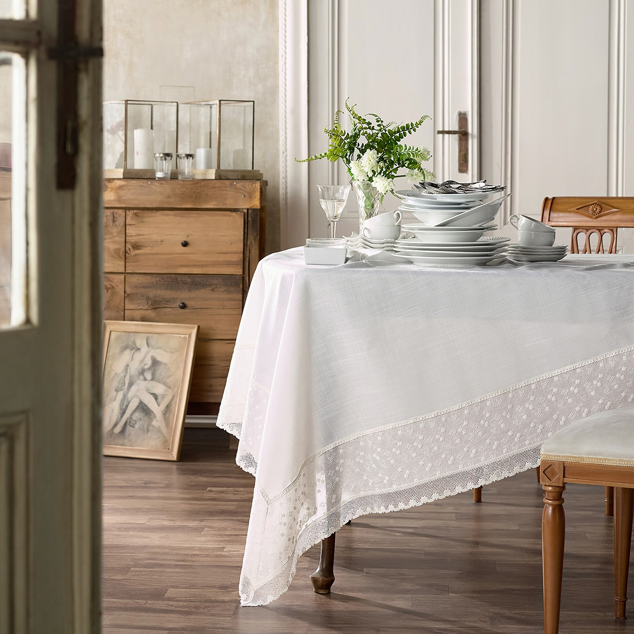 GOFIS HOME ΤΡΑΠΕΖΟΜΑΝΤΗΛΟ 326 OFF WHITE
