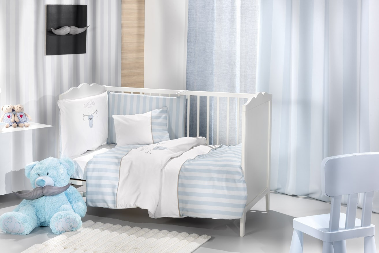 ΚΟΥΡΤΙΝΑ SAINT CLAIR SOFT-TOUCH LIGHT BLUE STRIPES 160X250