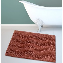 ΤΑΠΕΤΟ ΜΠΑΝΙΟΥ SAN LORENTZO BM-459 WAVES TERRACOTA-LT. BROWN 45x70