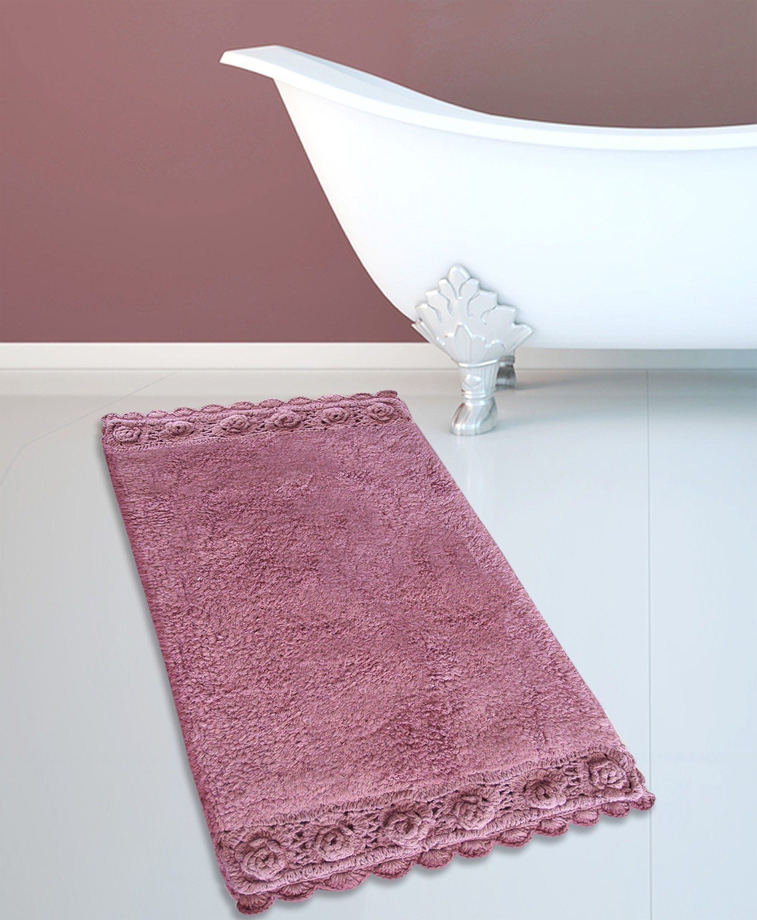 Ταπέτο Μπάνιου San Lorentzo 925 Double Lace Dusty Rose 50×80