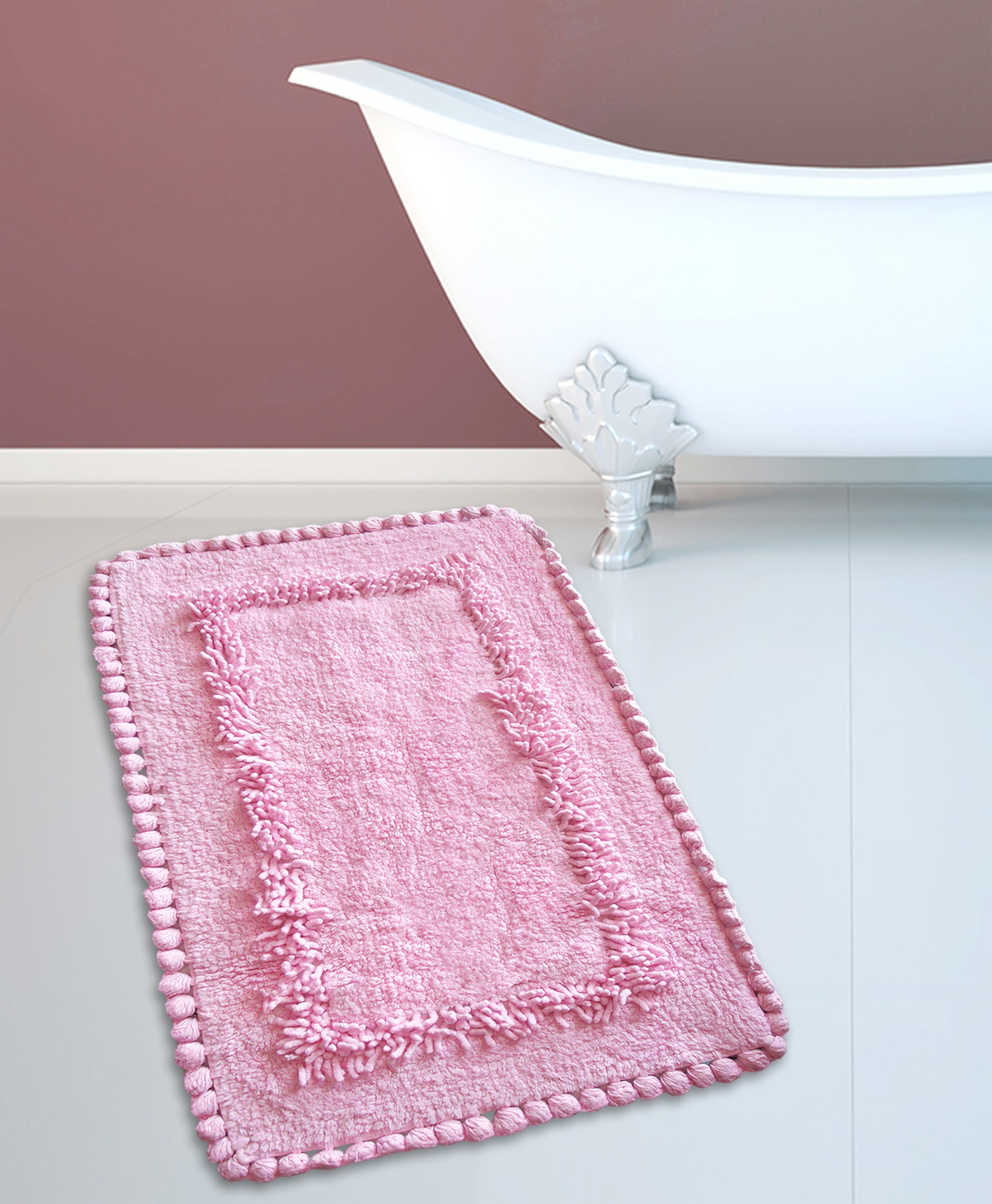 Ταπέτο Μπάνιου San Lorentzo 923 Crochet Light Rose 50×80