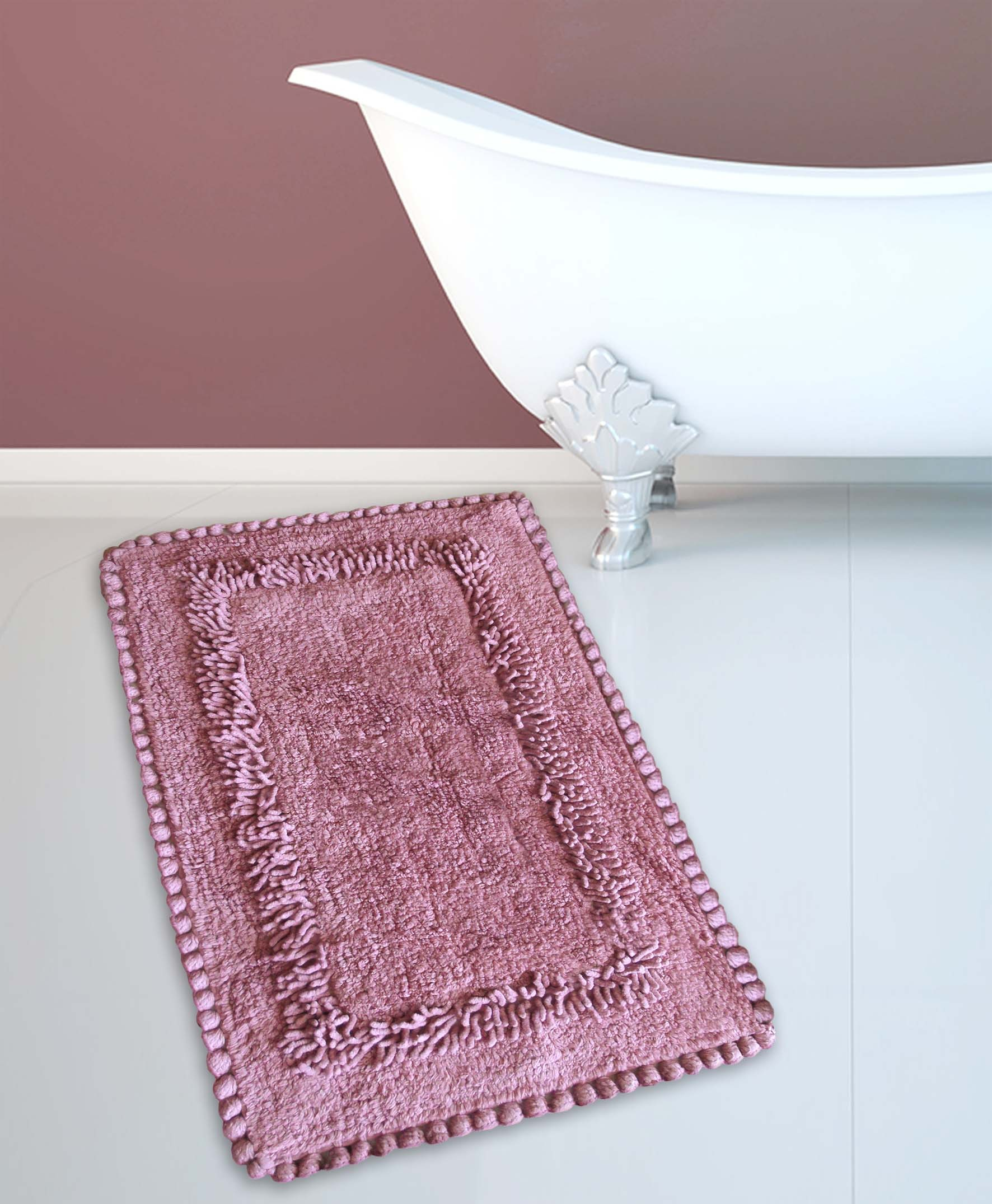 Ταπέτο Μπάνιου San Lorentzo 923 Crochet Dusty Rose 50×80