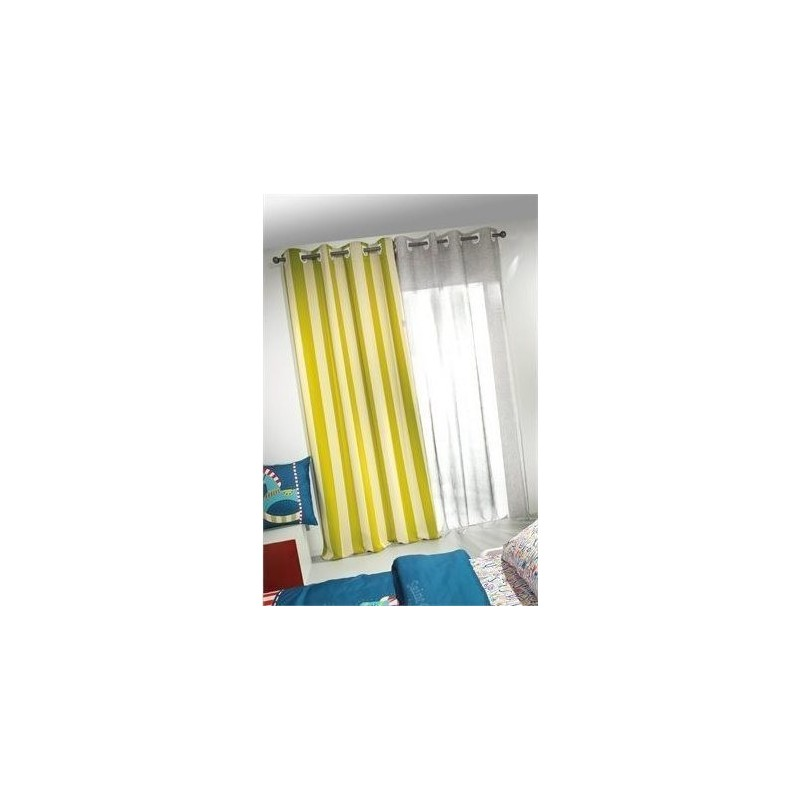 Κουρτίνα  Saint Clair Soft Touch  Lime Stripes 165x250
