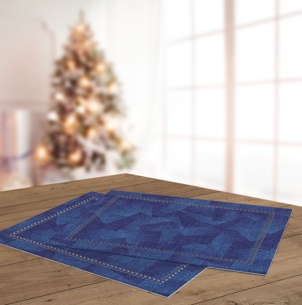Σουπλά Saint Clair Christmas 3026 Blue Laser Cut 45×33